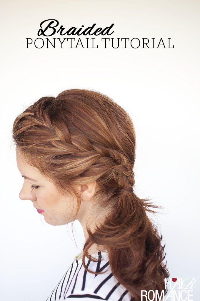 Hair Romance - braided side ponytail tutorial