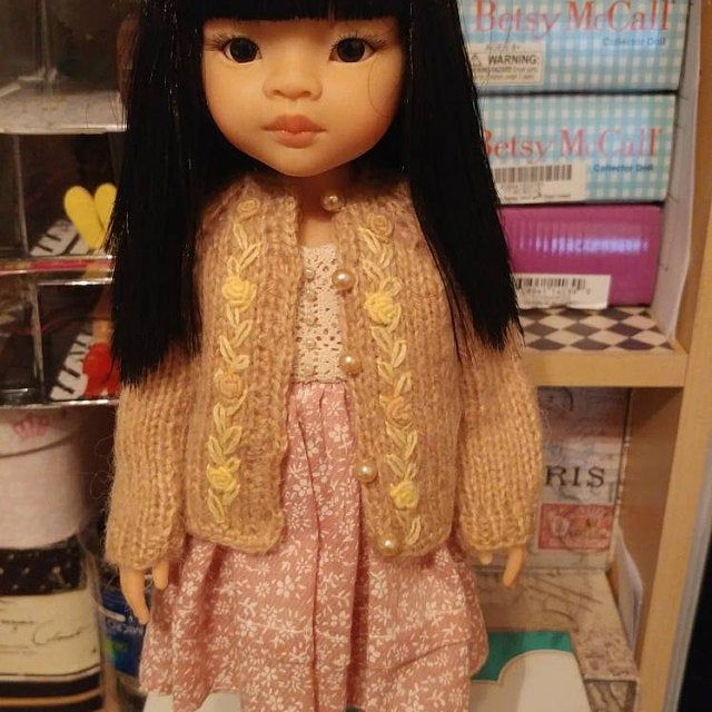 Outfit Paola Reina doll clothes Dress doll, a petticoat, a beret, a bolero and a bag doll