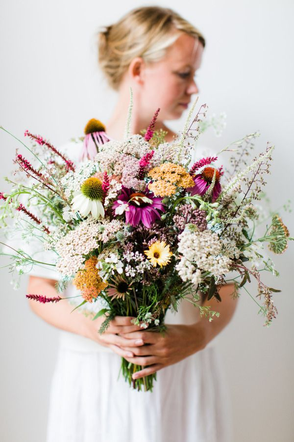 Wildflowers galore! http://www.stylemepretty.com/2015/07/08/23-gorgeous-wildflower-inspired-bouquets/