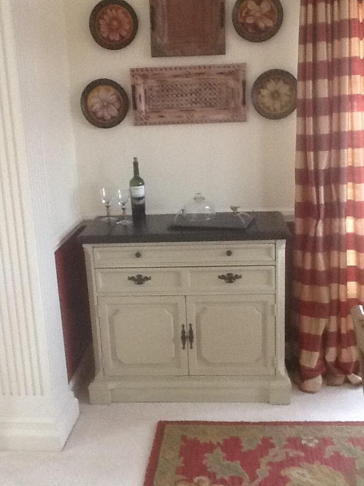 Bassett Server Buffet In Annie Sloan Country Grey And