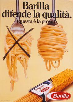 pubblicità comparativa vintage barilla