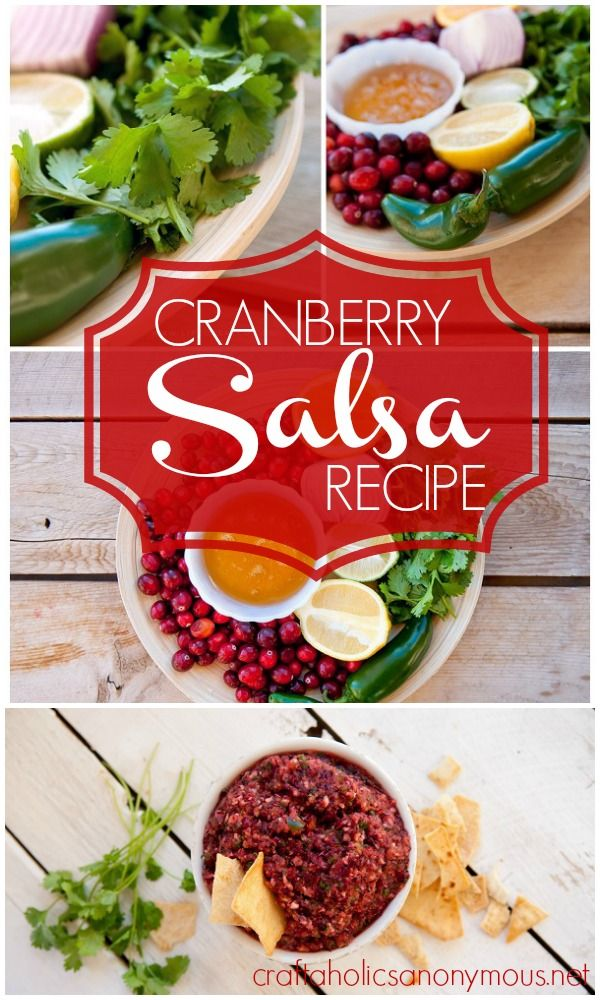Fresh Cranberry Salsa recipe. looks and sounds amazing!