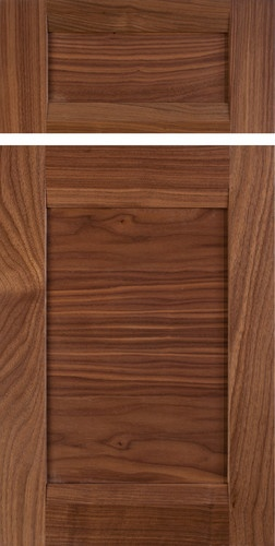 ... Walnut   Contemporary   Kitchen Cabinets   Austin   TaylorCraft Cabinet  Door Company Select Walnut With Rails And Solid Wood, Horizontal Grain Panel