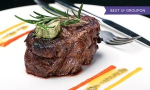 Groupon - $ 89 for a Four-Course Prix Fixe Steakhouse Dinner for Two with Wine at The Broker Restaurant ($180 Value) in The Broker Restaurant. Groupon deal price: $89