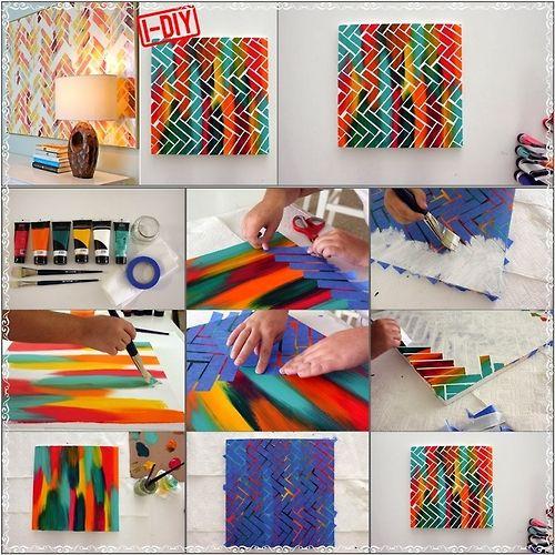 Marvellous Herringbone Painting Idea