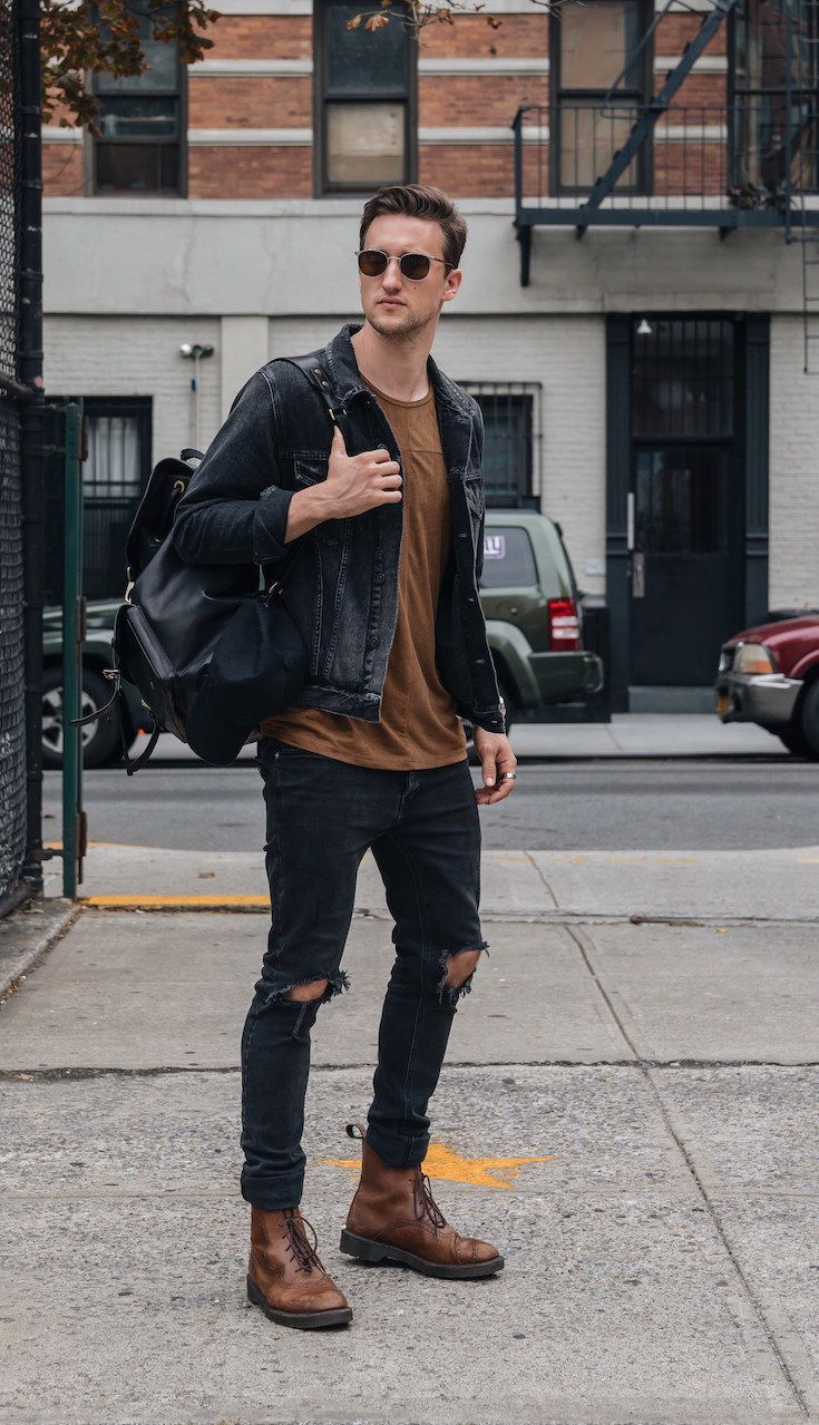 Men's Outfit Inspiration: go darker for fall