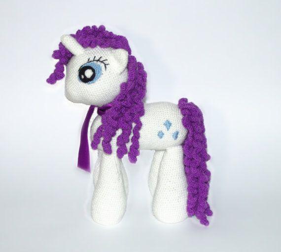 Rarity My Little Pony Amigurumi Toys Stuffed by KnittedJoyShop