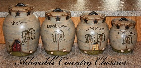 Hey, I found this really awesome Etsy listing at https://www.etsy.com/listing/280316354/canister-set-primitive-canister-set