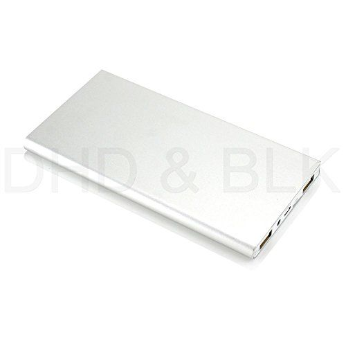 #US Stock Silver Ultra Thin 20000mAh Portable External Battery Charger Power Bank for Cell Phone