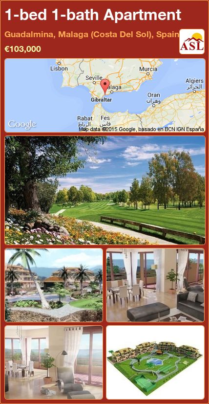 1-bed 1-bath Apartment in Guadalmina, Malaga (Costa Del Sol), Spain ►€103,000 #PropertyForSaleInSpain