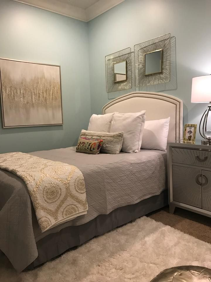 Sherwin Williams Open Air Paint Color On Walls Room Designed By Southern Twist Interiors Of Madison Open Air Bedroom Costal Bedroom Bedroom Paint Colors
