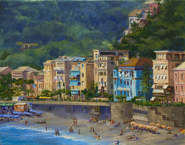Monterosso by Cathy Barry Oil ~ 22 x 28