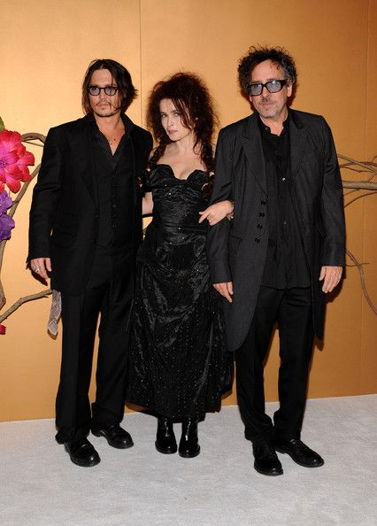 Helena Bonham Carter, Johnny Depp and Tim Burton