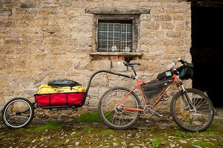 Bike plus trailer