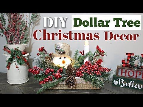 DIY Farmhouse Christmas Decor | DIY Christmas Decor 2018 | Krafts by Katelyn  me…