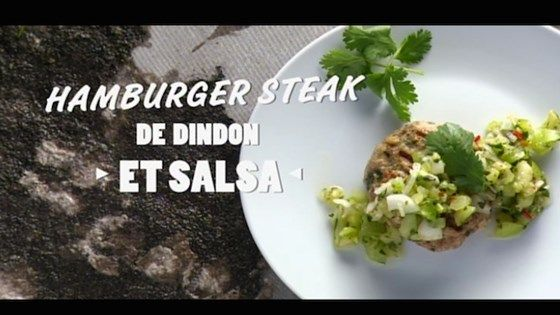 Hamburger steak de dindon et sa salsa de tomatillos