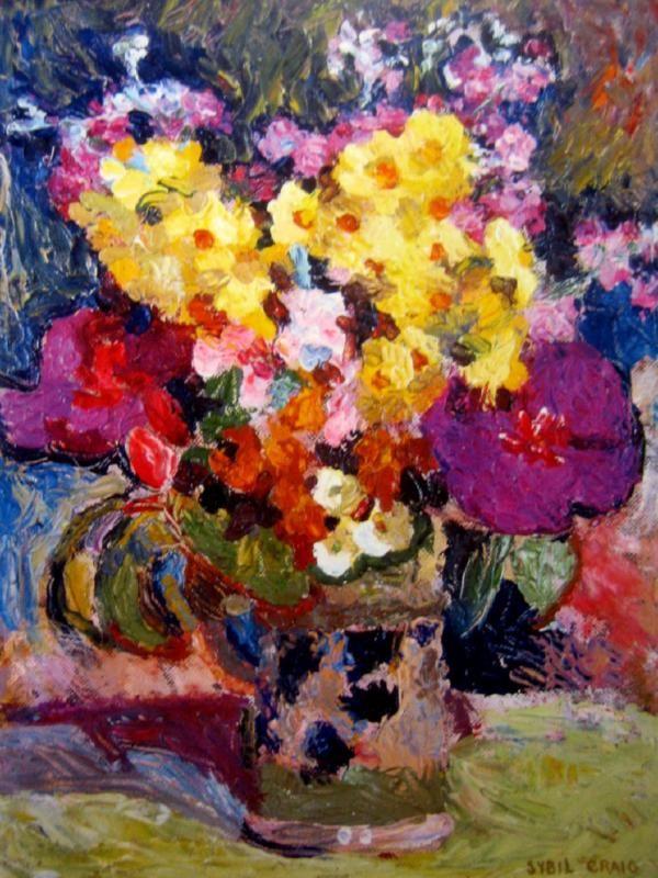 Still Life with Flowers by Sybil Craig (1901-89) Australia