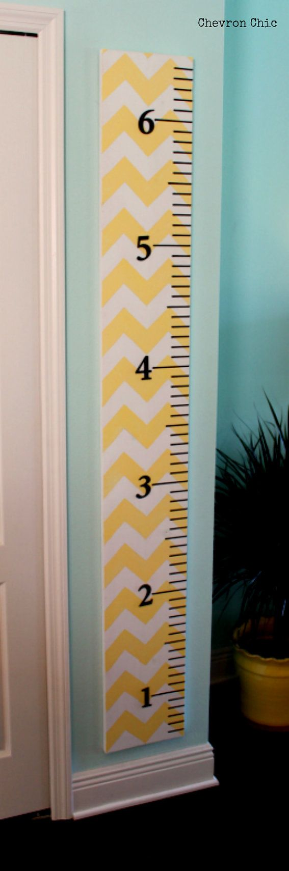 Over sized Growth Ruler Chevron Chic by ChevronChicFL on Etsy, $50.00 Must do something like this ~♡