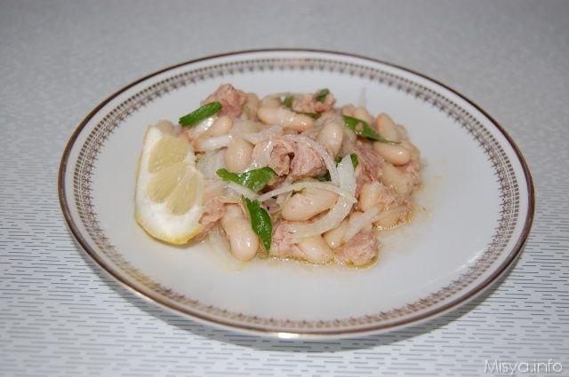 » Insalata di fagioli e tonno Ricette di Misya - Ricetta Insalata di fagioli e tonno di Misya