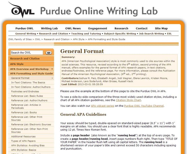 Apa book work cited purdue