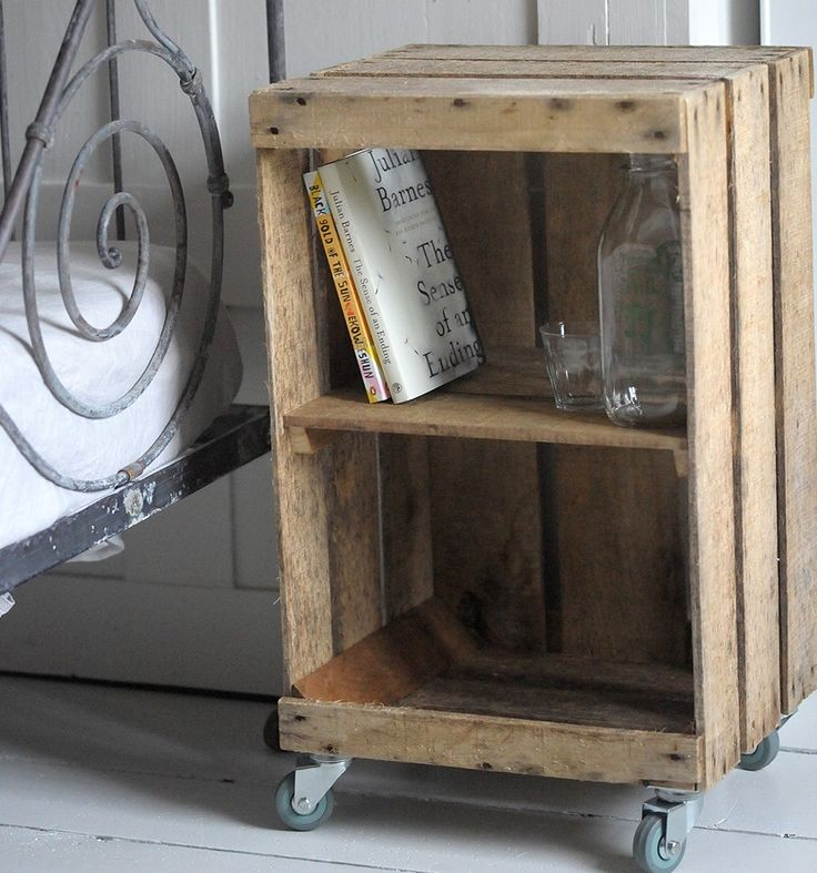 Apple crate storage!!