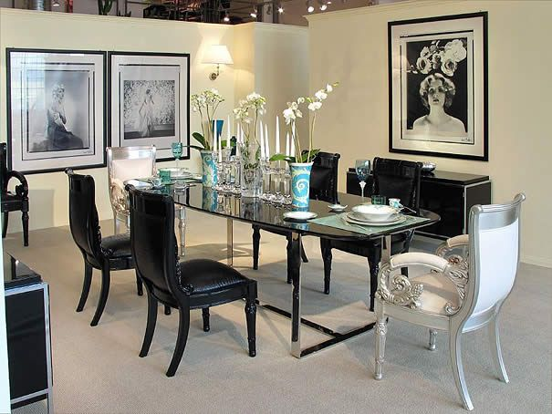Luxury Italian Dining Room Furniture Ideas Black And White
