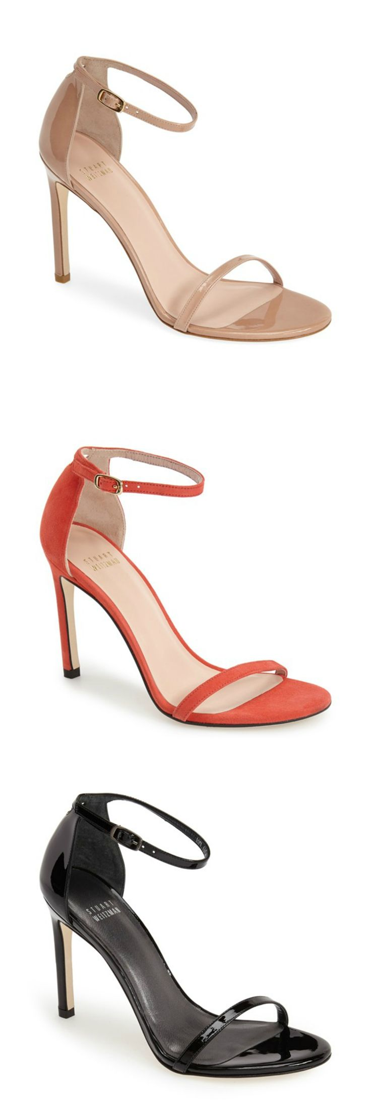 This Stuart Weitzman sandal goes with everything! It's the perfect heel height, is flattering on everyone and is a favorite shoe among editors, stylists and celebrities. Gorgeous, comfortable and affordable, too! Comes in 8 colors.