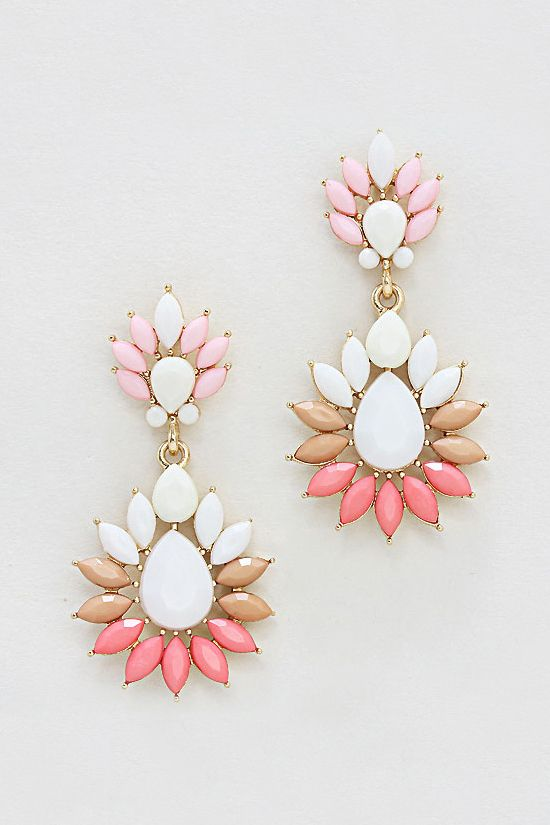 Claire Earrings in Mocha Blush | Awesome Selection of Chic Fashion Jewelry | Emma Stine Limited
