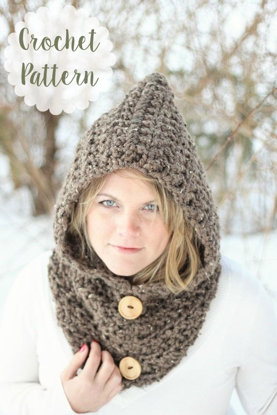 Hooded Cowl Scarf Crochet Pattern | Instant Digital Download #crochet #etsy #ad #etsyseller #cowl #scarf #handmade