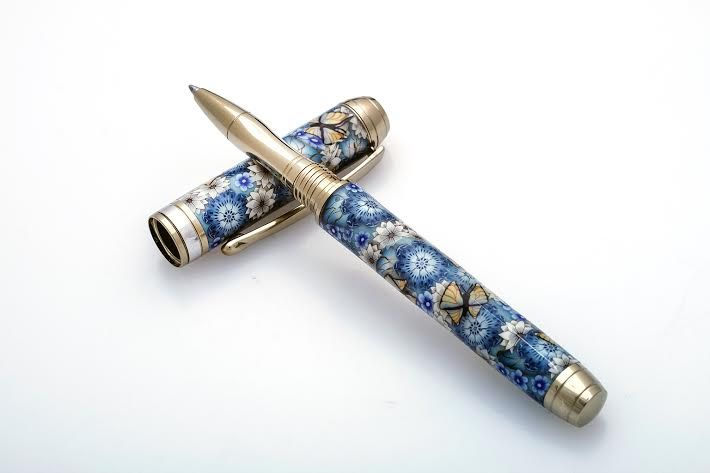Blue Mistral Polymer Clay Pen Rollerball