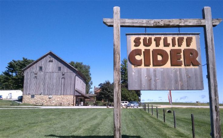 Sutliff Cider Company - Lisbon, Iowa. A refreshing alternative to wine or beer, Sutliff cider is hand-pressed from farm-grown apples and fermented in oak.