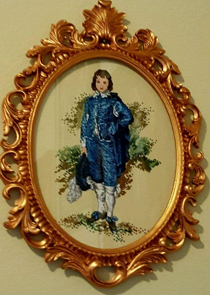 "cross stitching '' Blue Boy "" /вышивка крестом"