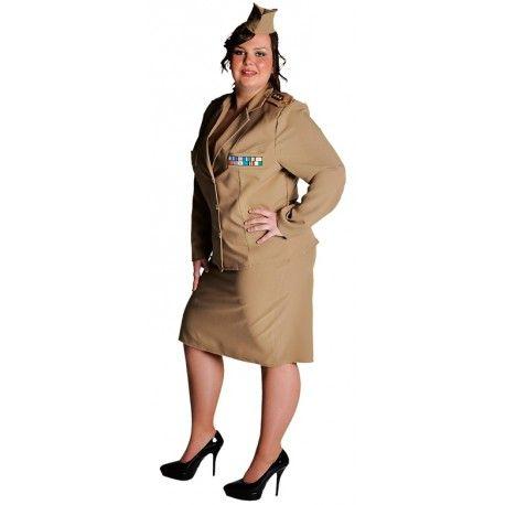 Déguisement militaire 1940's femme luxe
