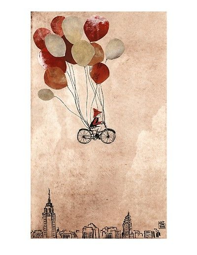 as a young girl in my dreams i'd fly by peddling a bicycle with all the speed i could muster.