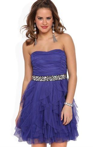 Deb Shops Strapless Glittery Short #Prom #Dress with Stone Empire Waist $72.90