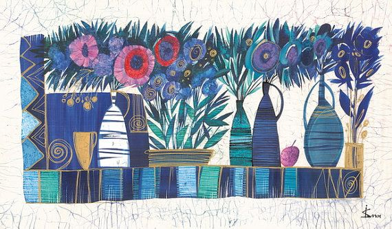 Summer Flowers 3 by IsmaArt on Etsy, $650.00