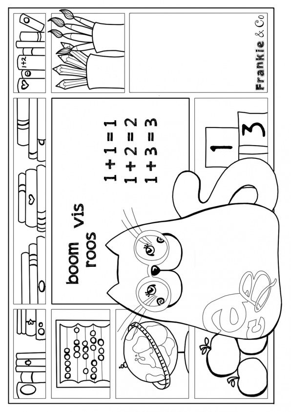Frankie  Co free coloring pages. Coloring page cat going back to school. More coloring pages www.frankie-en-co.nl http://static.mijnwebwinkel.nl/winkel/frankie-en-co/images/kleurplaat-school2.jpg