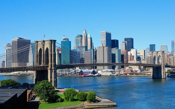 Puente de Brooklin y skyline de Nueva York!