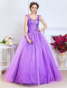 Ball Gown Scoop Floor-length Taffeta And Tulle Evening/Prom ... – USD $ 249.99