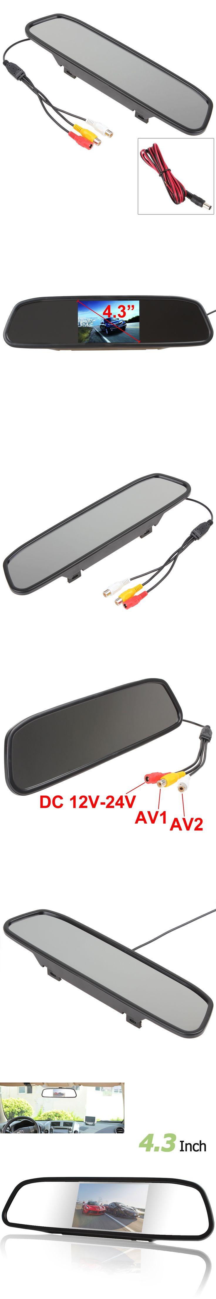 CAR HORIZON Car Mirror Monitor 4.3 inch Color Digital TFT-LCD Screen Car Rear View Mirror Monitor 480x272 Car Monitor