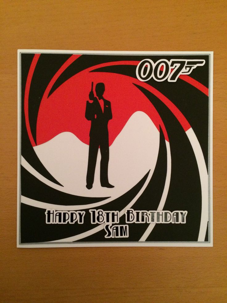 280 best Cards and Crafts Ive made images – James Bond Birthday Cards