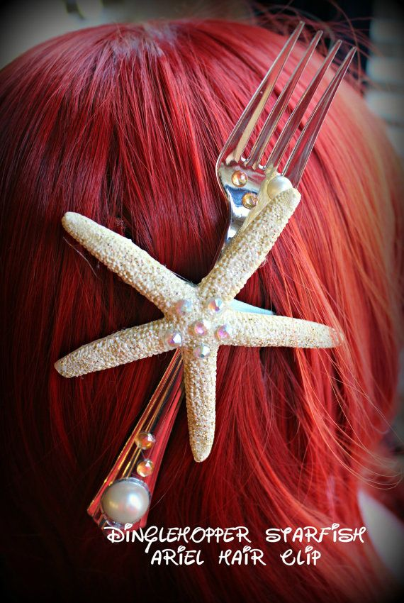 Little Mermaid Dinglehopper Starfish Ariel hair clip