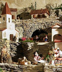Annual Santons display - Bonnieux, Provence.  Repinned by www.mygrowingtraditions.com
