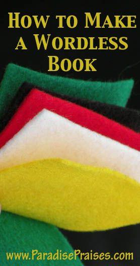 How to Make a Wordless Book www.ParadisePraises.com