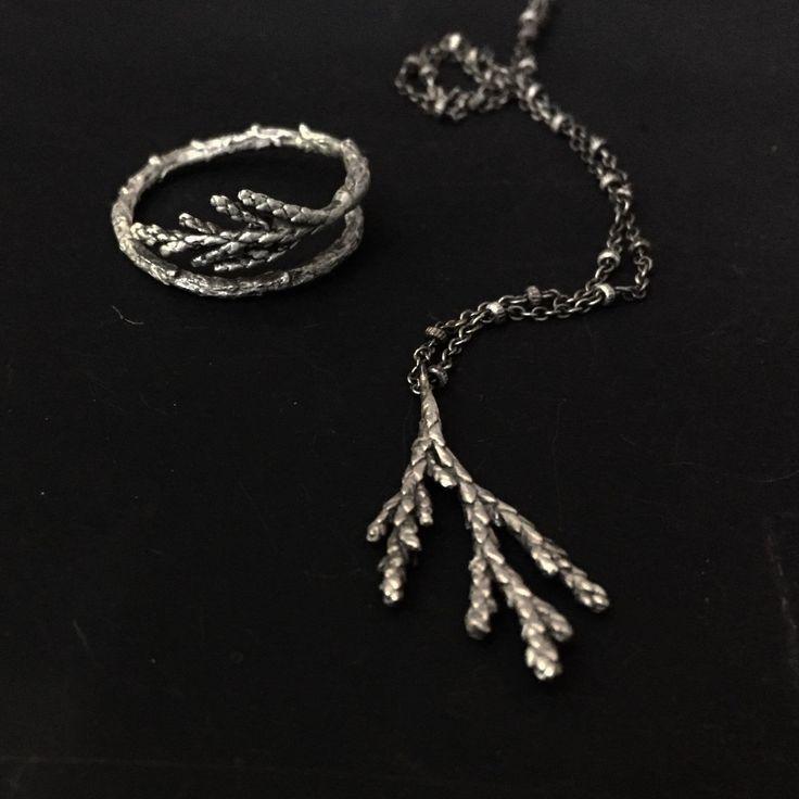 Juniper stories...#juniperjewelry#etsyjewelry#etsy#botanicaljewelry#woodlandjewelry#sterlingsilverjewelry