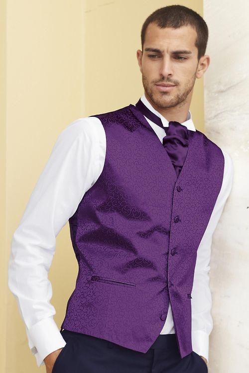 purple vest & tie