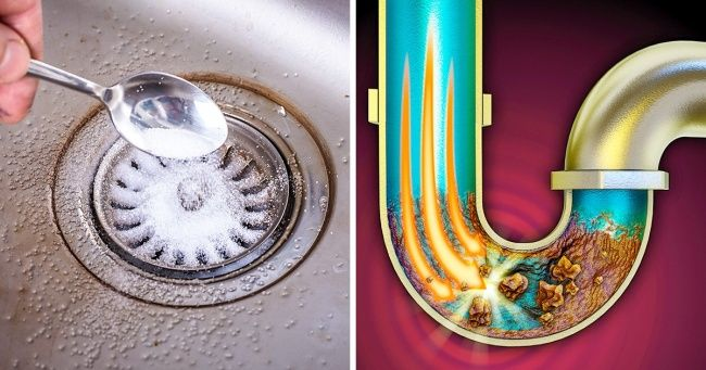 8 Fast And Cheap Ways To Unclog A Kitchen Sink Drain Bathroom Sink Drain Kitchen Sink Clogged Cleaning Sink Drains