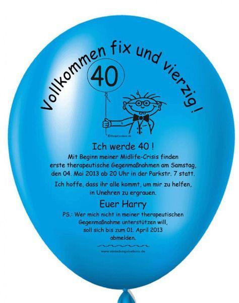 Einladungskarten Geburtstag Einladungskarten 40 Geburtstag Lustig