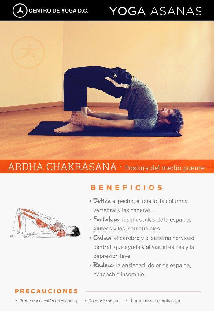 Beneficios de la práctica de Yoga · ARDHA CHAKRASANA ! Postura del medio puente por Diego Cano