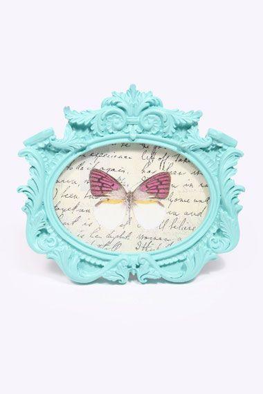 Mint vintage oval frame